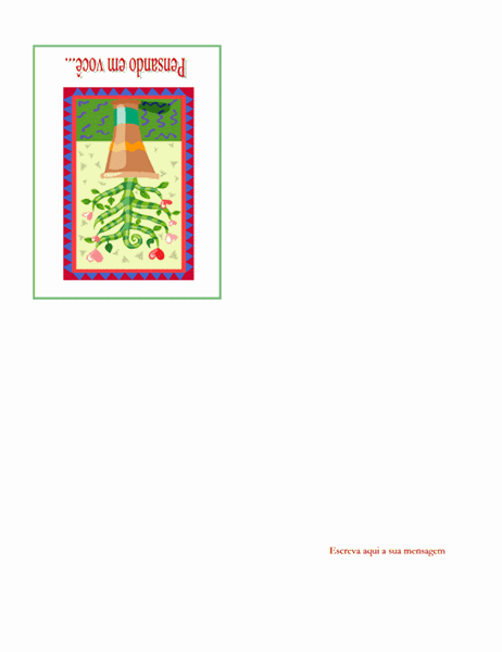 Cartão Pensando em você