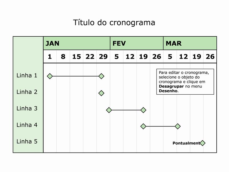 Cronograma de três meses