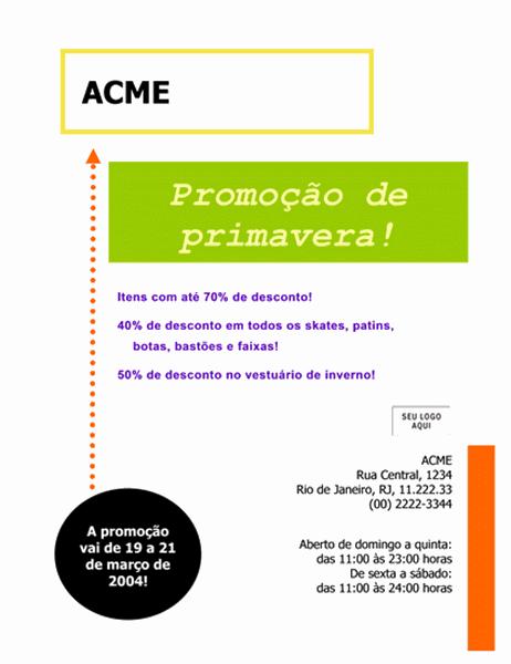 Panfleto comercial de venda (22x28 cm)