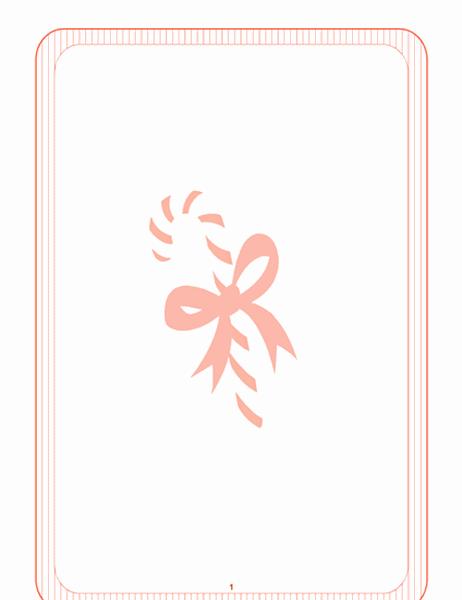 Papel de carta de datas festivas (com marca-d´água de bengala de açúcar)