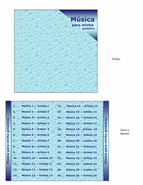 Encarte de CD (design de ginástica)