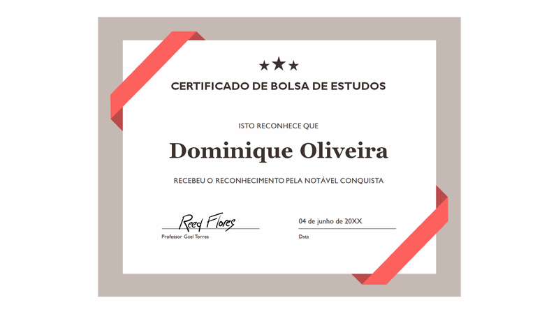 Certificado de Reconhecimento (borda azul formal)