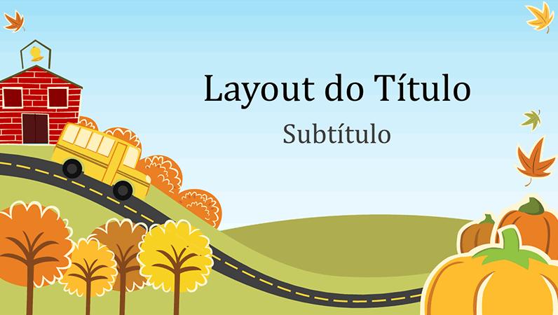 Apresentação didática e divertida com tema de outono (widescreen)