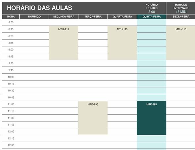 Agenda do aluno