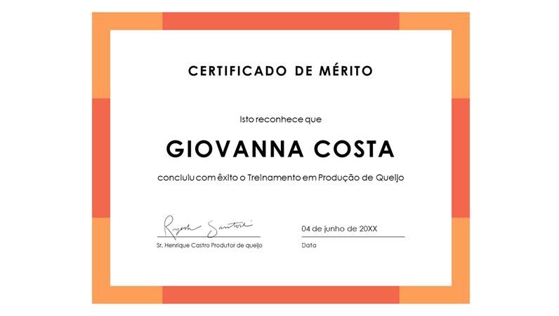 Certificado de conquista (azul)