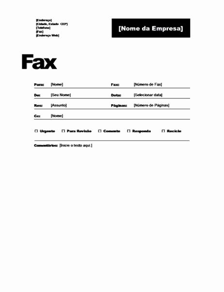 Rosto de fax