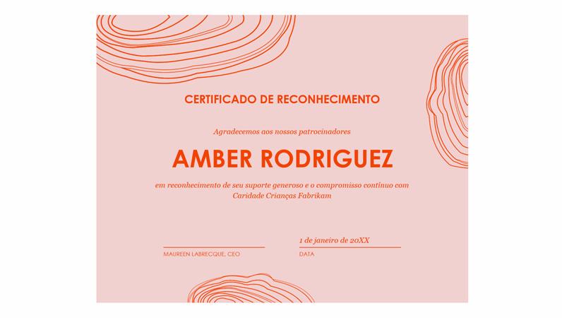 Certificado de reconhecimento do patrocinador