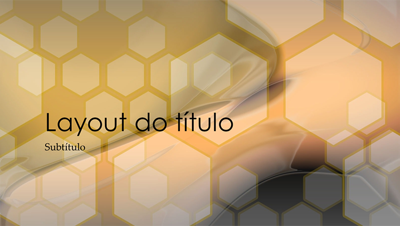 Slides de design hexagonal
