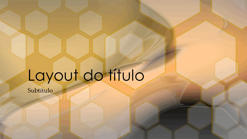 Slides de design hexagonal
