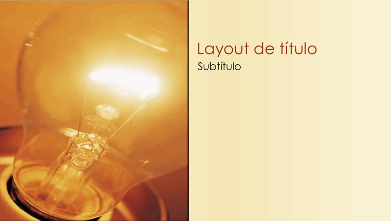 Slides com design de ideia