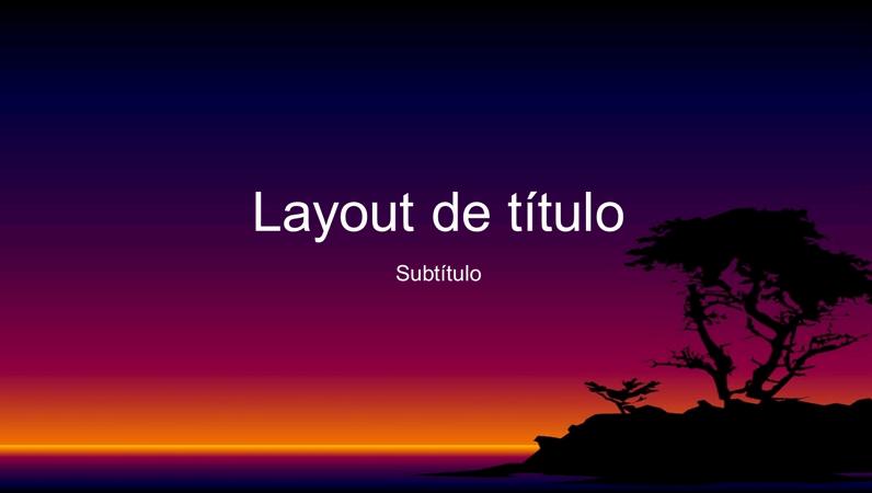 Slides de design de ilha