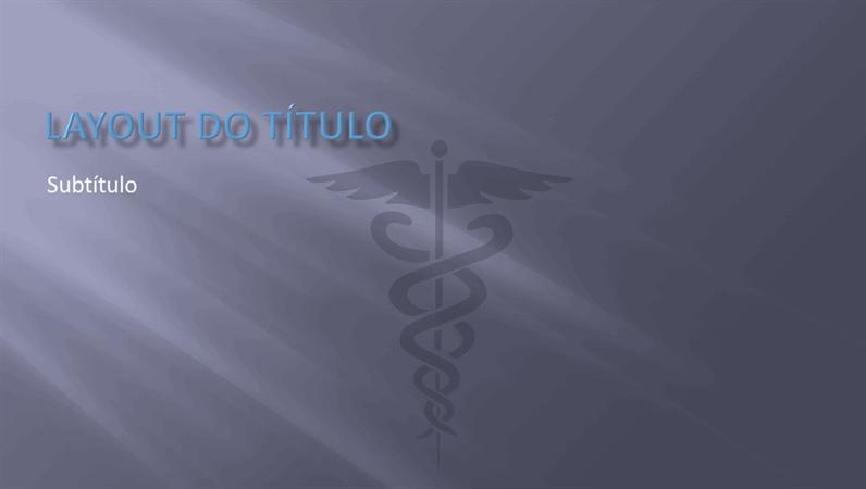 Slides com design de apresentação médica