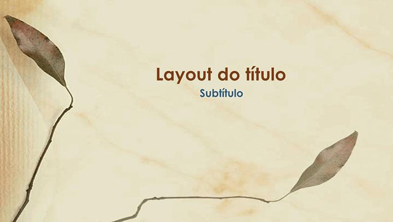 Slides de design de folhas prensadas