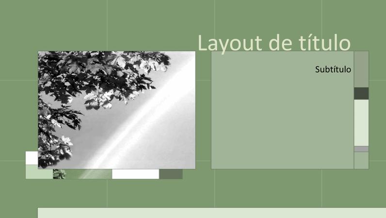 Estações nos slides de design sálvia