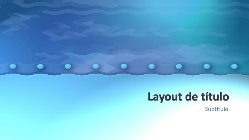 Slides de design Ondas do oceano