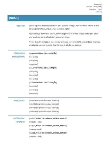 Currículo funcional (design Simples)