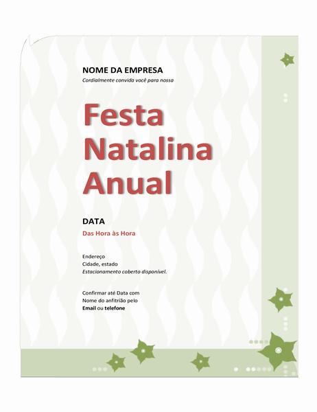 Convite para festa natalina da empresa