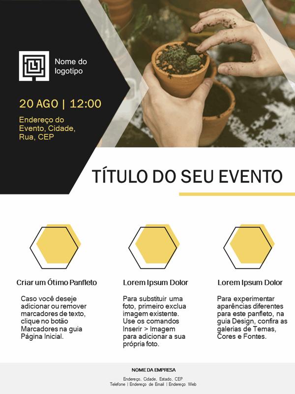 Panfleto para pequenas empresas (design ouro)