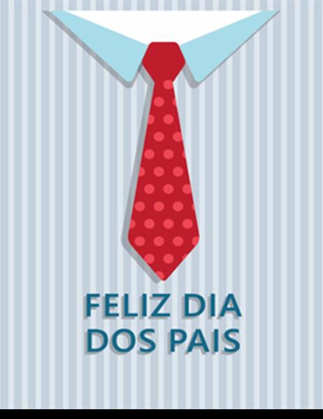 Cartão de Dia dos Pais (pescaria, dobra em quatro)