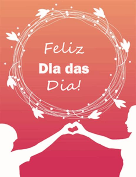 Cartão de Dia das Mães (com uma papoula, dobra em quatro)