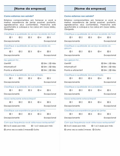 Pesquisa de restaurante (2 por página)