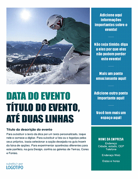 Panfleto de evento sazonal (inverno)