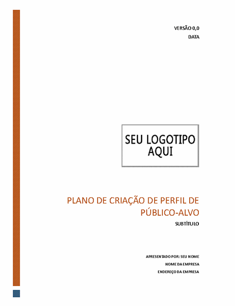 Plano de criação de perfil de público-alvo