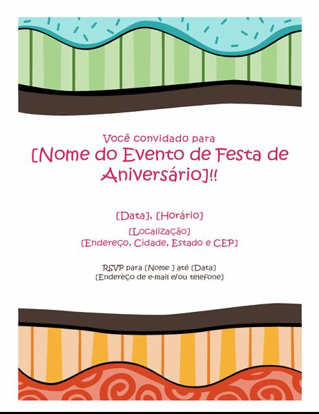 Panfleto de aniversário (Design brilhante)