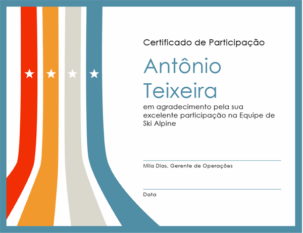 Certificado de participação