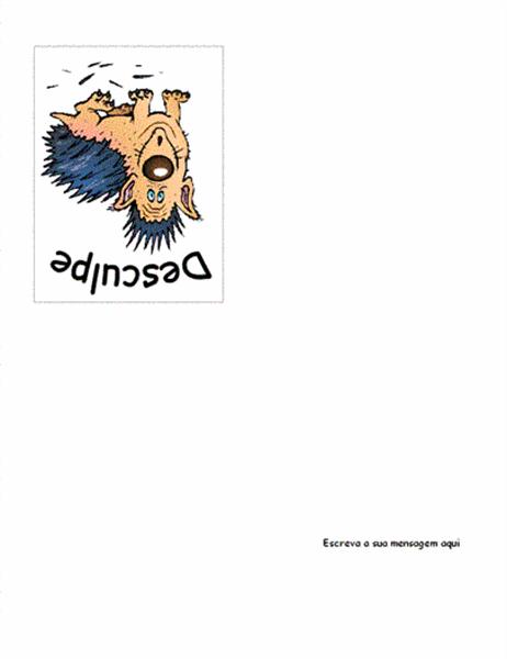 Cartão de pedido de desculpas