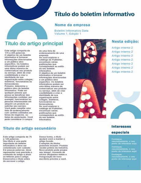 Boletim informativo de negócios (design de arco, 4 páginas)