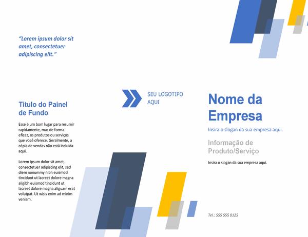 Folheto (design de barras)