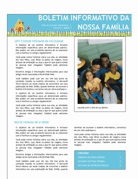 Boletim informativo de família