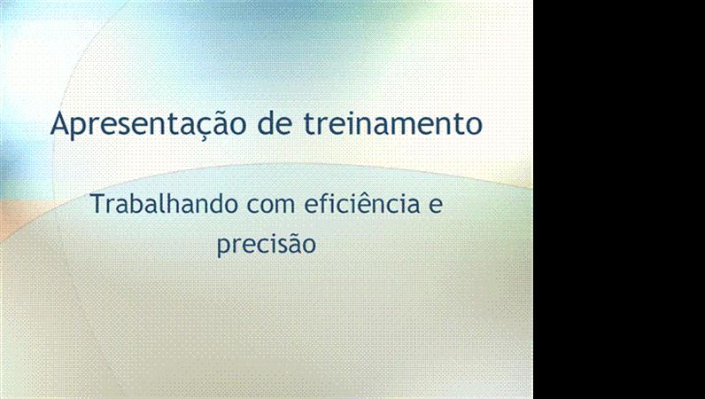 Apresentação de seminário de treinamento