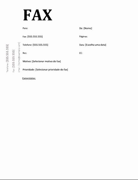 Folha de rosto para fax (design Acadêmico)