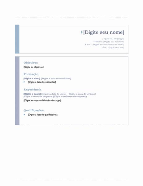 Currículo (design Origem)