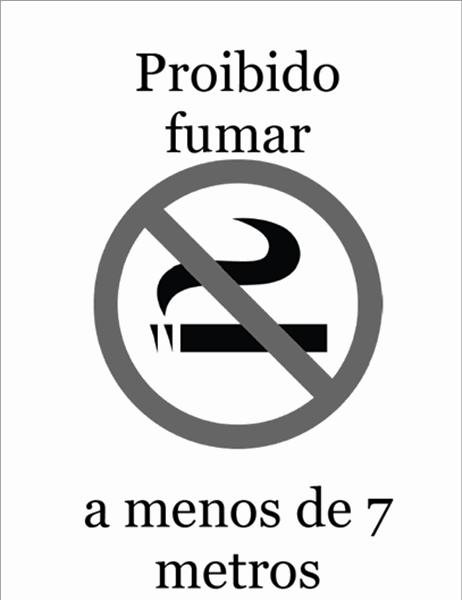 Símbolo de Proibido Fumar (preto e branco)
