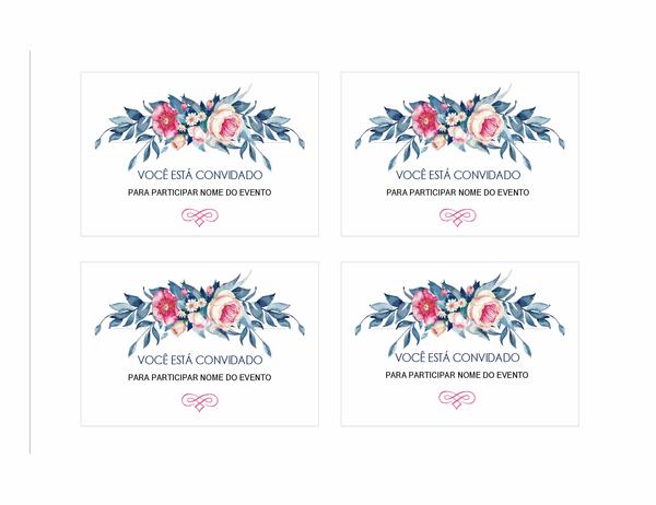 Convite de festa (design floral)