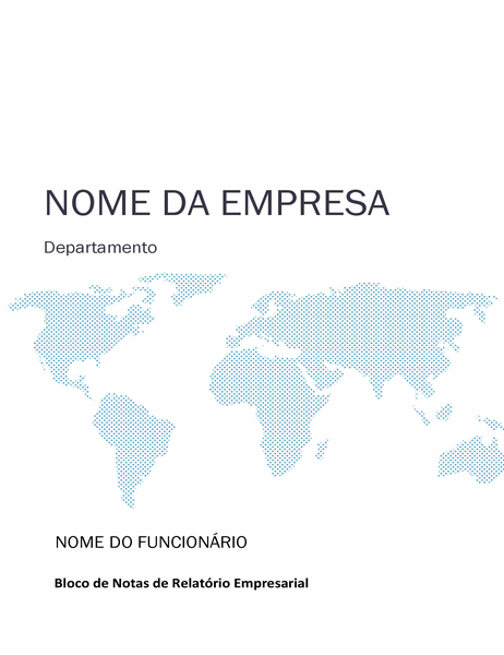 Kit de caderno para relatório de negócios (capa, lombada, separadores)
