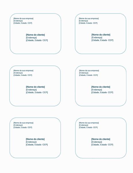Etiquetas de remessa (design de plano de fundo azul, funciona com Avery 5164)