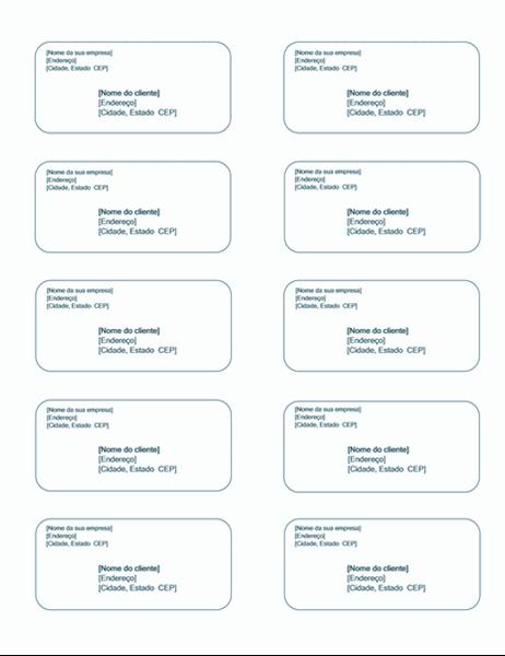 Etiquetas de remessa (design de plano de fundo azul, funciona com Avery 5163)