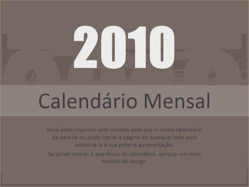 Calendário de 2010 (Seg-Dom)