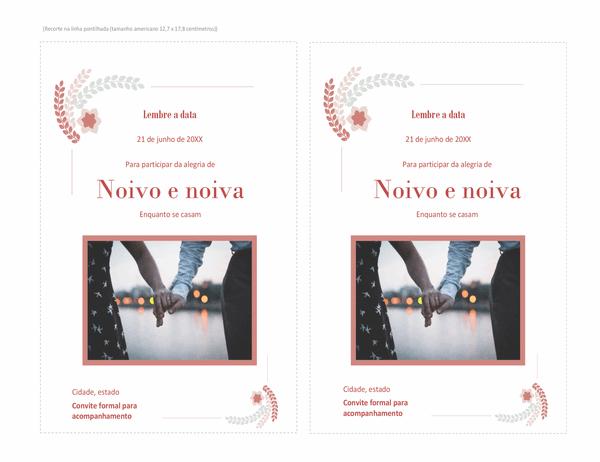 Convite de Casamento (com espaço para fotos)
