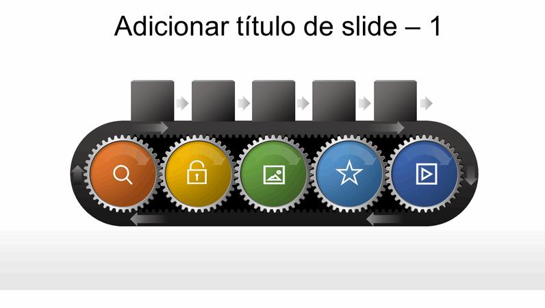 Elemento gráfico de engrenagem de esteira rolante