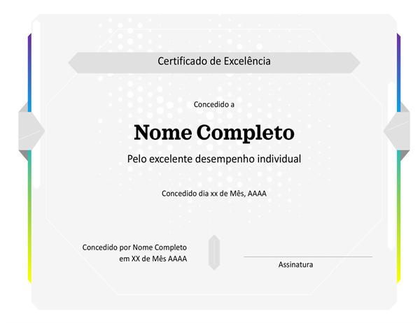 Certificado de Melhor de Todos