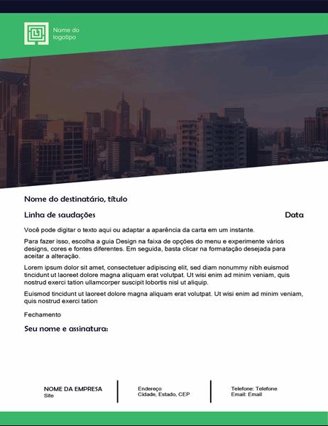 Carta comercial (Design de floresta verde)