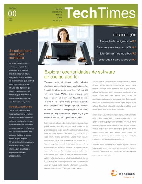 Boletim informativo para empresas de tecnologia (4 páginas)