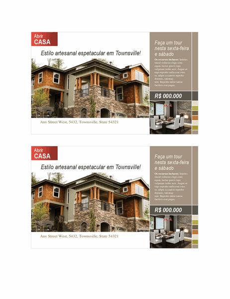 Cartão-postal imobiliário (2 por página)