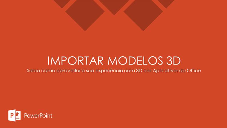 Importar modelos 3D
