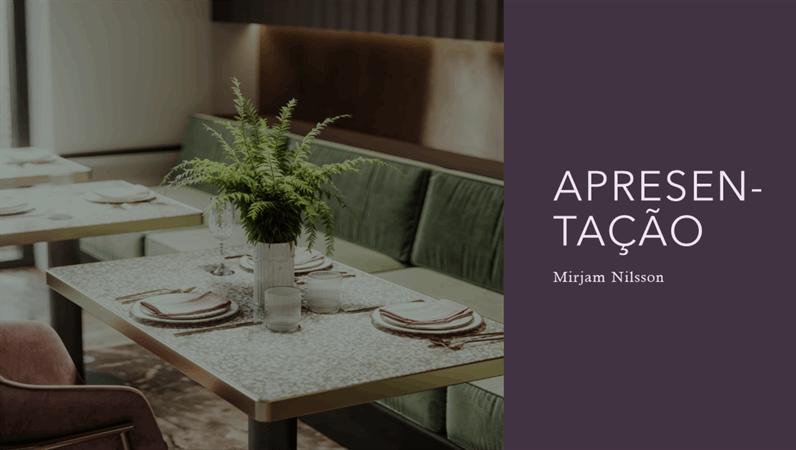 Apresentação para restaurantes